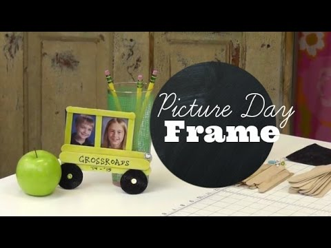 Back to School Craft for Kids: School Bus Picture Frames - YouTube