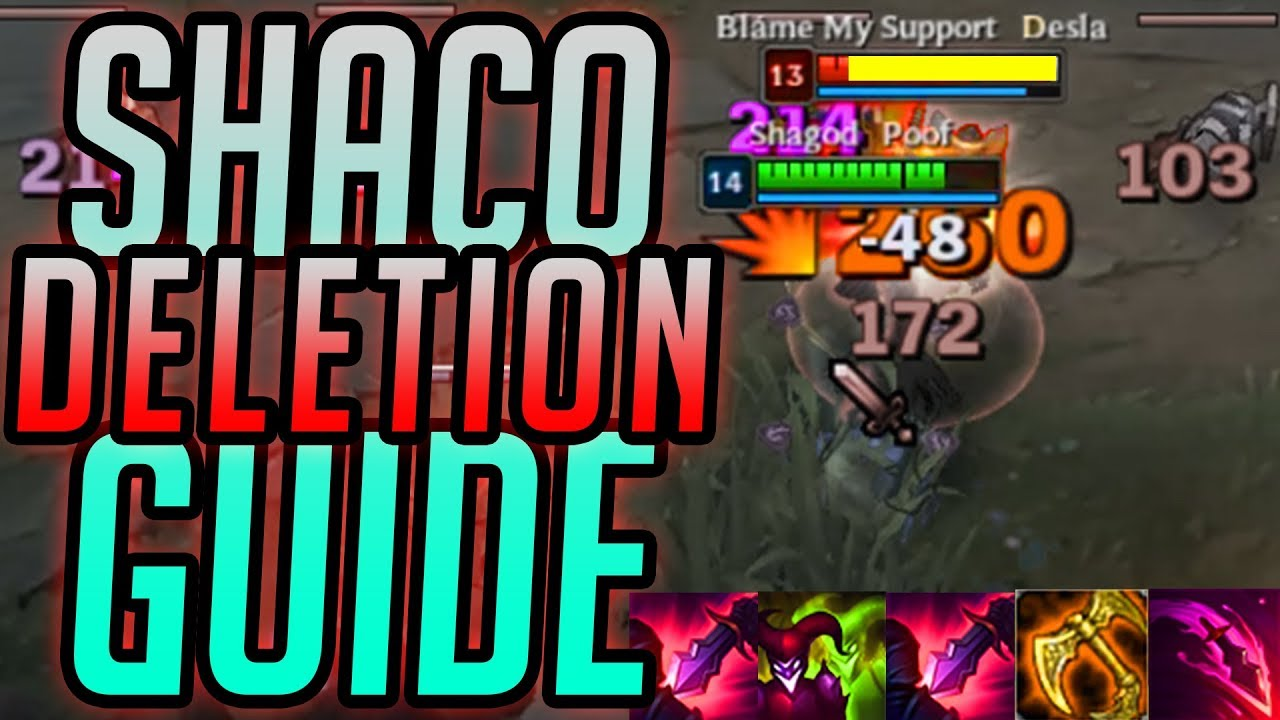 Best shaco challenger build rank 45 chase season 8 youtube.