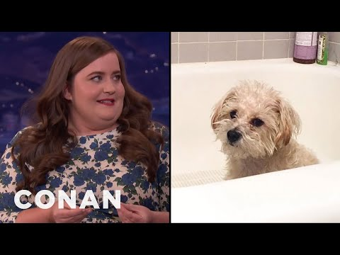 Aidy Bryant On Her Dogs Ass Distress  - CONAN on TBS