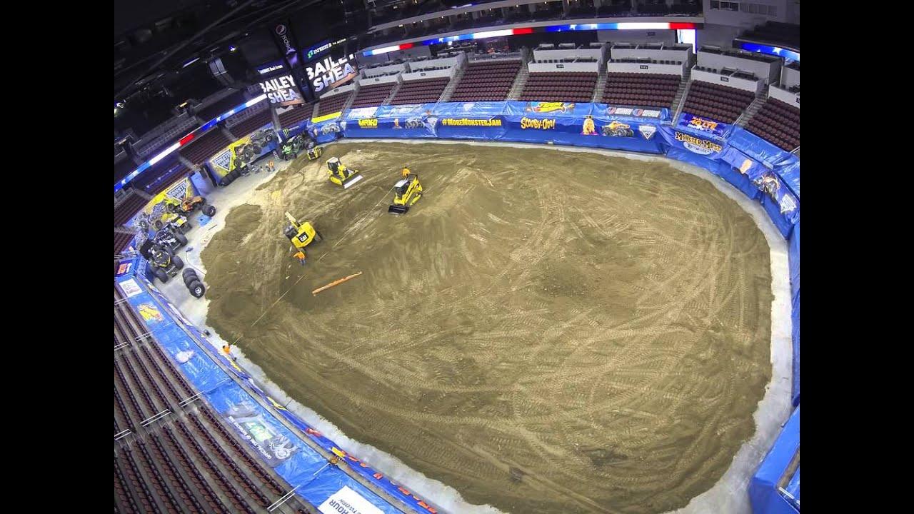 Monster Jam Time Lapse INTRUST Bank Arena YouTube - Intrust arena seating