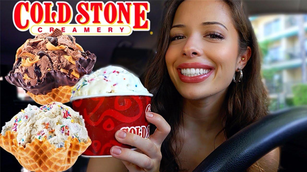 Cold Stone Ice Cream MUKBANG & STORYTIME ft. Sara!!!