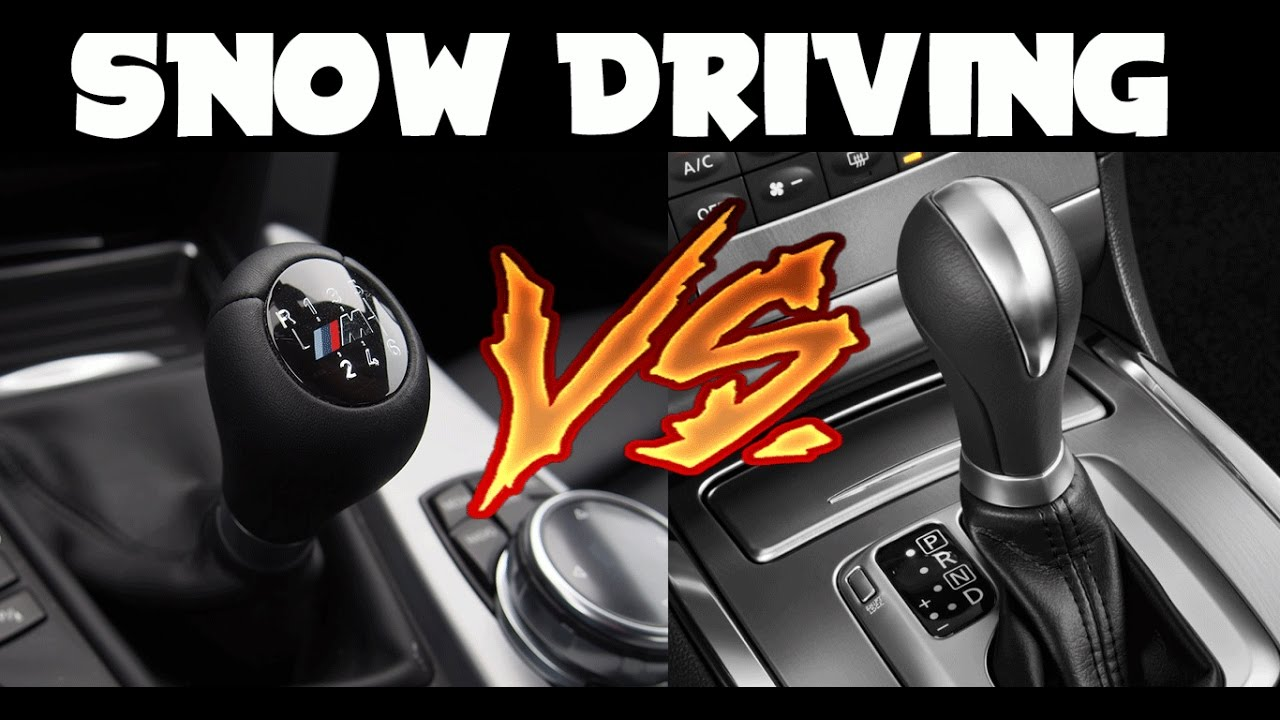 automatic vs manual in the snow youtube rh youtube com Automatic Transmission Automatic Transmission Car