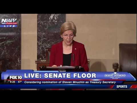 FNN: Elizabeth Warren GOES OFF on Steven Mnuchin, Treasury Secretary Nominee