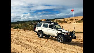 robe beachport 4wding 2016 76 series v8 landcruiser
