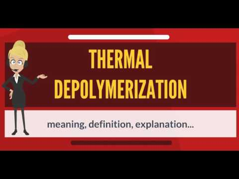 What is THERMAL DEPOLYMERIZATION? What does THERMAL DEPOLYMERIZATION mean?