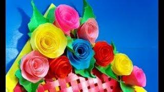 Как сделать маленькие декоративные цветочки из бумаги Супер легкий способ цветы поделки поделки МК
