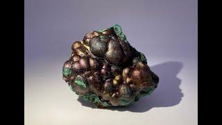 Iridescent Goethite on Malachite from Sepon Mine, Laos