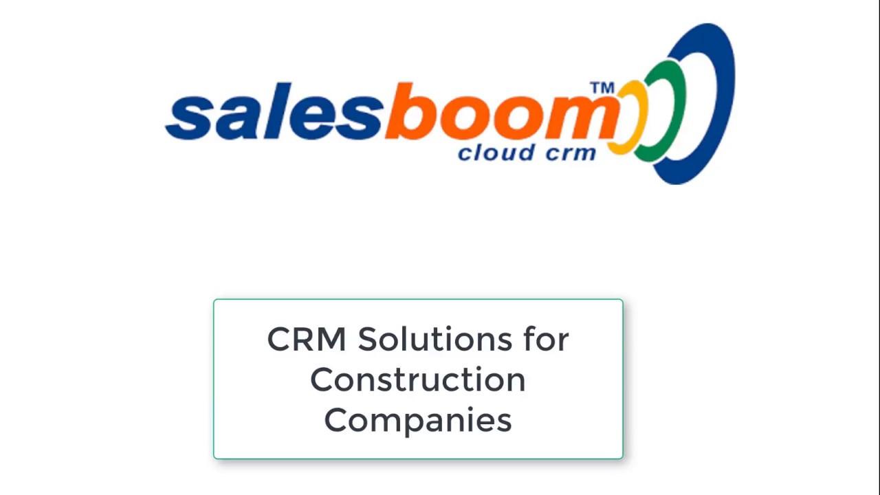 CRM for Construction Companies   Project Management CRM