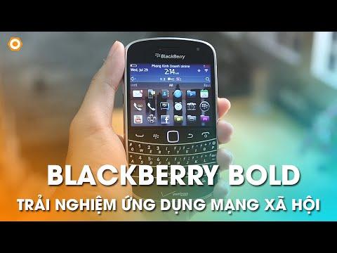 BLACKBERRY BOLD CỔ - Trải nghiệm những ứng dụng mạng xã hội Facebook, Viber...