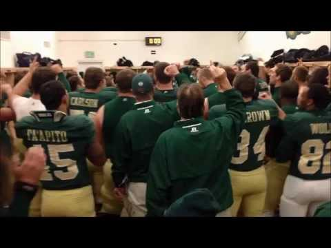 CSU Rams Football Sings Fight Song In Locker Room