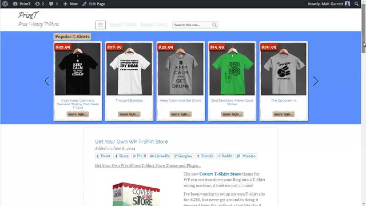 wordpress t shirt store theme and plugin youtube ForWordpress T Shirt Store Theme Free