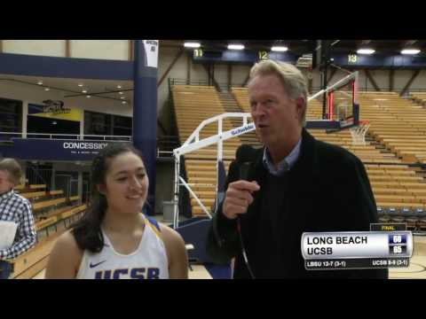 WBB: Coco Miller (UCSB) Post-Game vs. LBSU