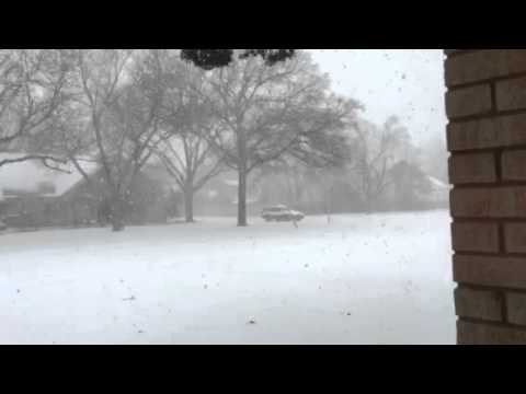 Snow Storm in Lubbock Texas December 27 2015