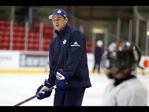 PUCK 101: Zach Hyman visits Toronto Maple Leafs Hockey School