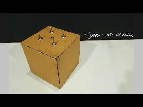 How to make A Electronic puzzle box | it jumps when unlocked