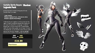NEW 'SHADOWS RISING PACK' in Fortnite! SHADOWS RISING SKINS PACK FREE! (NEW SHADOW LEGENDS BUNDLE)