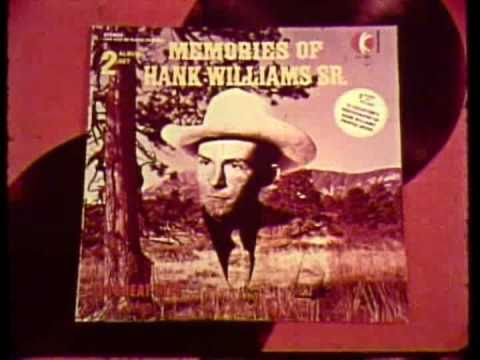 "K-tel Records ""Memories of Hank Williams Sr."" commercial"