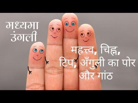 मध्यमा उंगली (Middle Finger) - महत्त्व, चिह्न, टिप, अँगुली का पोर और गांठ