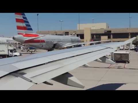 American Airlines (US Airways) Airbus A321-231 [N580UW] push back, taxi, and takeoff from PHX