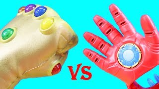 Infinity Gauntlet Vs. Iron Man Repulsor Gloves + DC Imaginext & Marvel Infinity War Battle