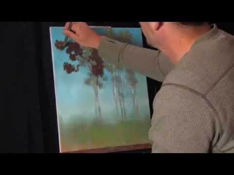 Time Lapse Acrylic Landscape Painting by Tim Gagnon Reflecting on Summer
