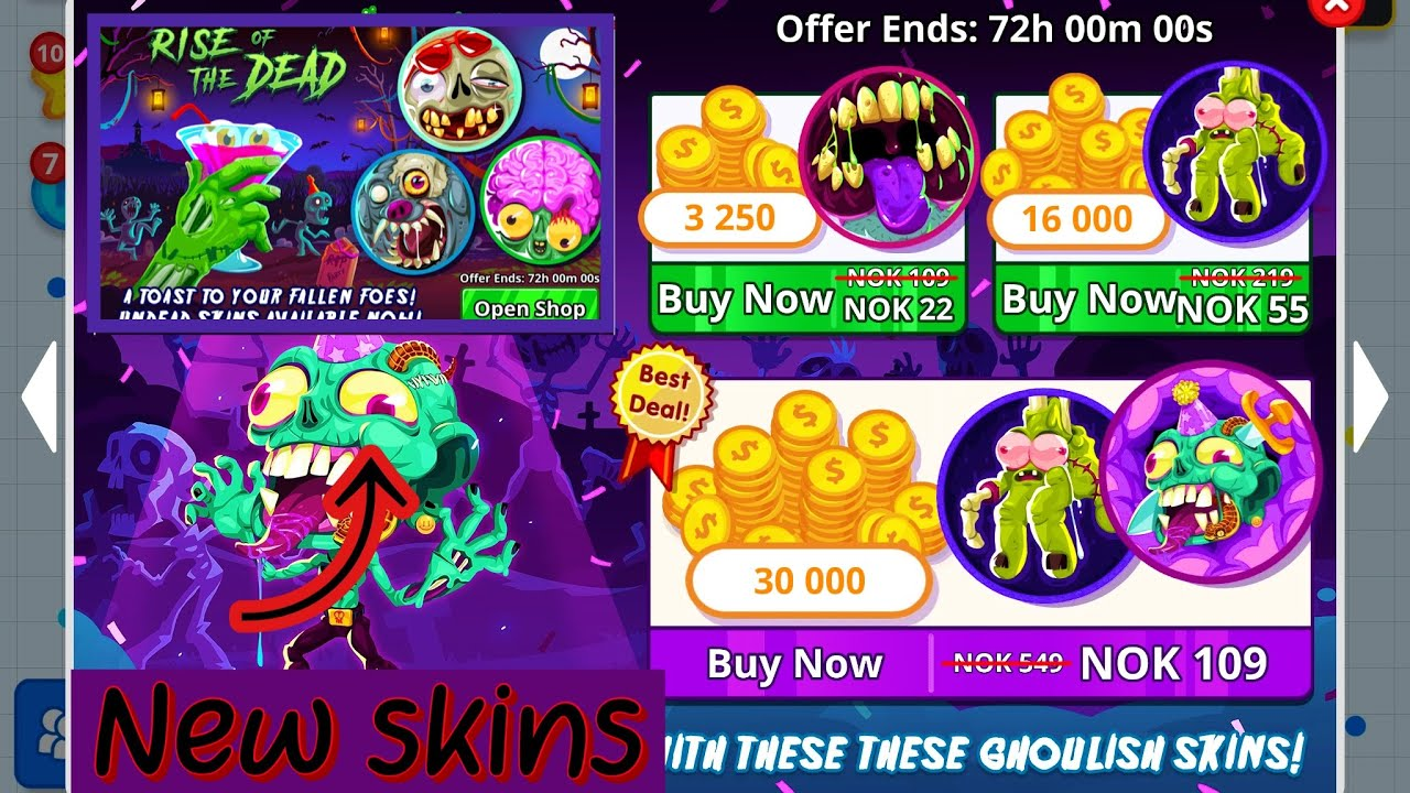 Agar io NEW SKINS 2019!! NEW AGARIO SKINS JUNE! OLD ZOMBIE DEAL FROM 2017!  #NEWSKINS