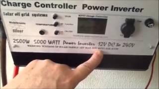 Solar off grid system naar 230V  12v