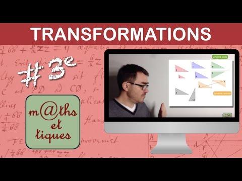 Reconnaître une transformation - Troisième