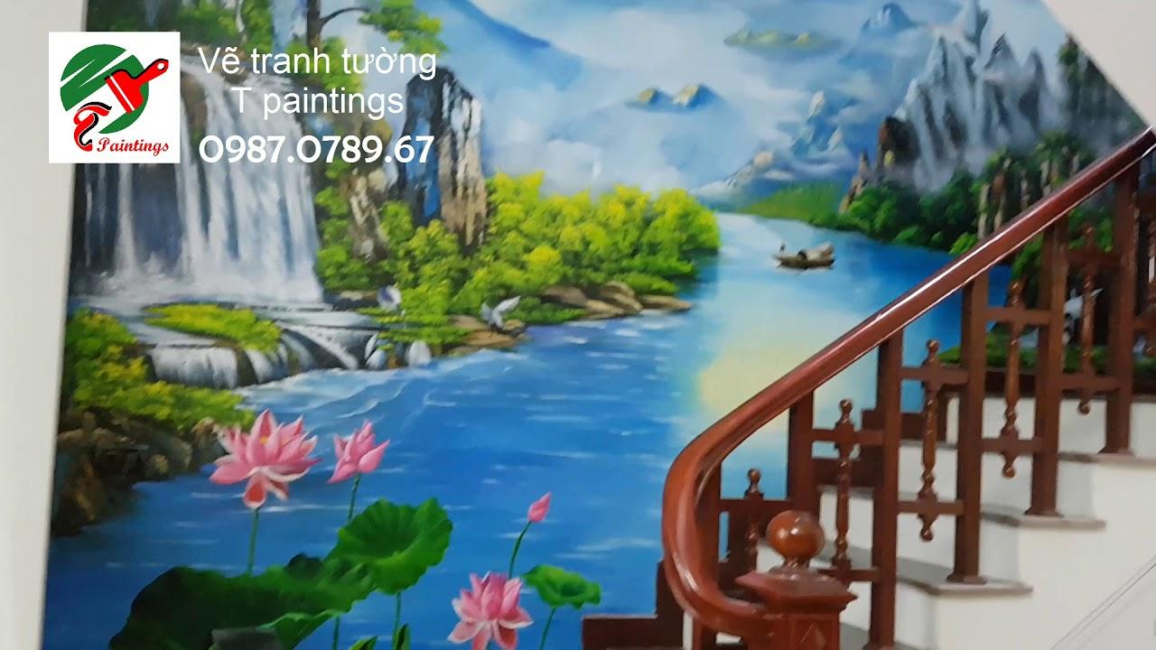Vẽ tranh tường cầu thang ở Hà Nội