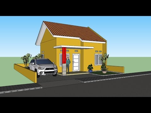 Make Simple Home 3D Images using Sketchup - Sketchup Tutorial