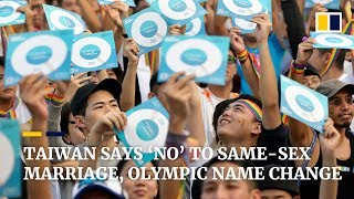 Taiwanese reject same-sex marriage and Olympic name change
