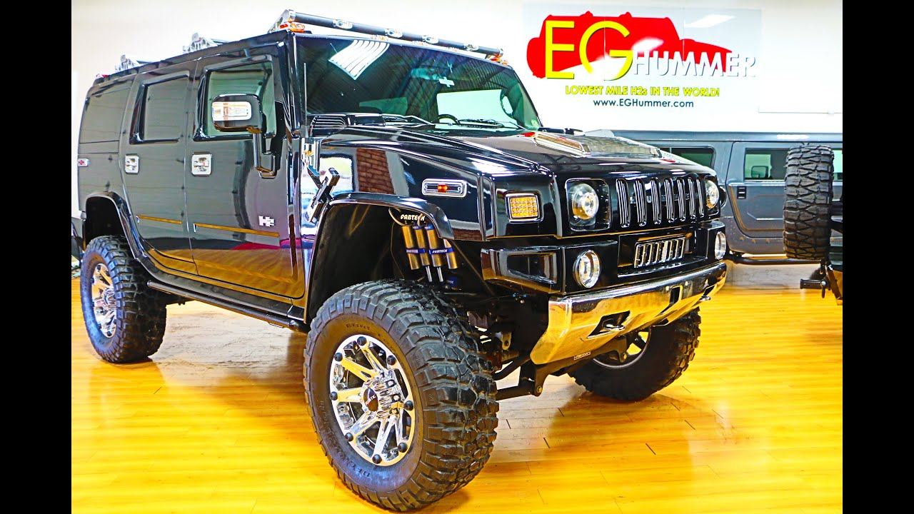 "2006 Hummer H2 4X4 LIFTED For Sale Navi Roof 38"" Tires 20"" Rims"
