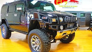 "2006 Hummer H2 4X4 LIFTED For Sale~Navi~Roof~38"" Tires~20"" Rims~Fabtech~Dirt Logic"