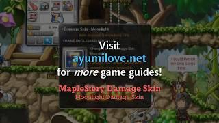 Ayumilove MapleStory Damage Skin - Moonlight