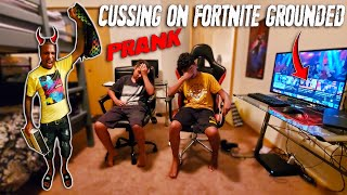 (EPIC PRANK)MY KIDS CAUGHT CUSSING ON FORTNITE NOW ONE OF THEM HAS TO MOVE IN NEW HOUSE WITH ME