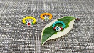 우레탄줄로 크리스탈꽃술 꽃반지 만들기│매듭마무리 숨기는…