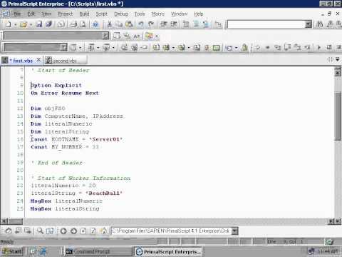 VBScript - Lets Start Scripting (2 - 9)