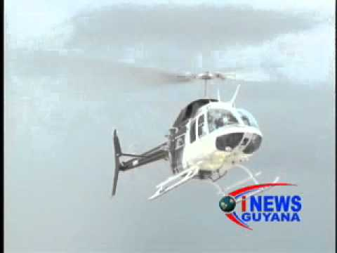 Guyana's first commercial helicopter service is launched. October 03, 2012