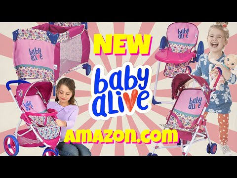 🎁 NEW 2017 Baby Alive Accessories!!! 💖 Playard, Strollers & High Chair! 🛍Available on Amazon.com!