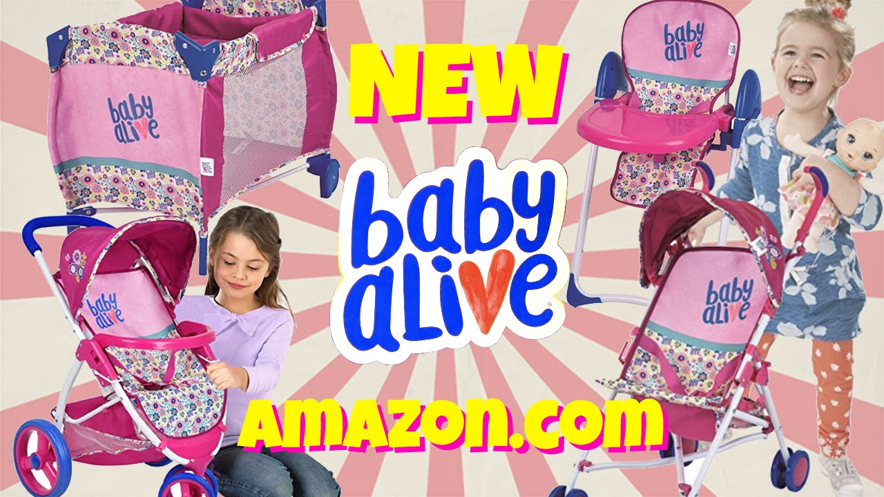 New 2017 Baby Alive Accessories 💖 Playard Strollers