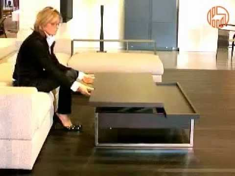 Adone - Tavolino da salotto trasformabile in scrivania - YouTube
