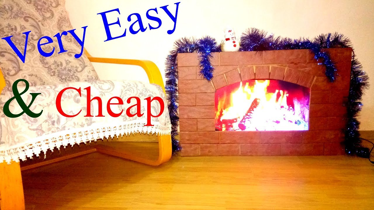 How to make a fake fireplace of normal size at home cheap for How to build a house cheap and fast