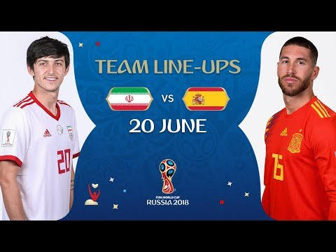 LINEUPS – IR IRAN V SPAIN - MATCH 20 @ 2018 FIFA World Cup™