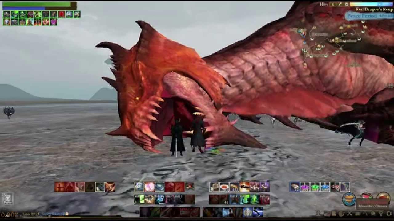 Archeage Red Dragon Worldboss Kill Youtube