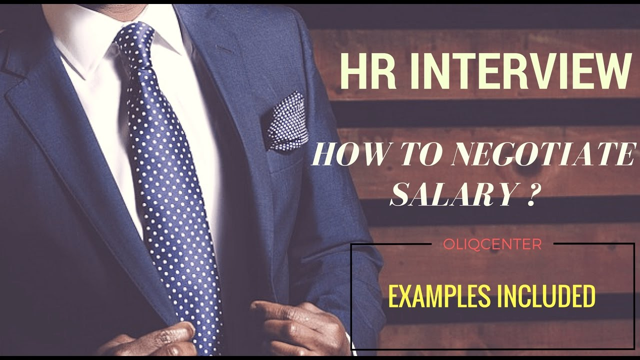 how to negotiate salary offer with hr