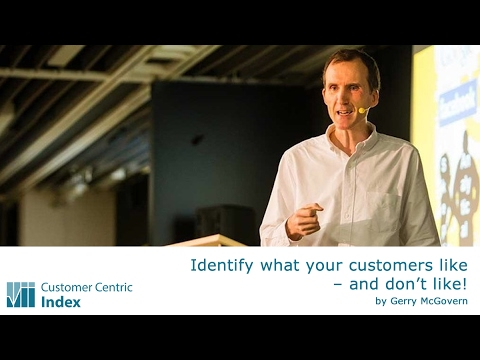 Customer Centric Index: Identify what your customers like – and don't like! (by Gerry McGovern)
