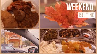 Weekend Routine/Indian Restaurant eat out/Shopping/Sunday meal prep