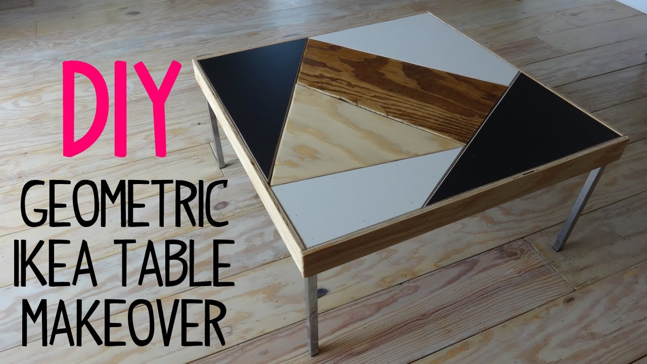DIY Geometric Ikea Table Makeover YouTube