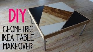 DIY Geometric Ikea Table Makeover