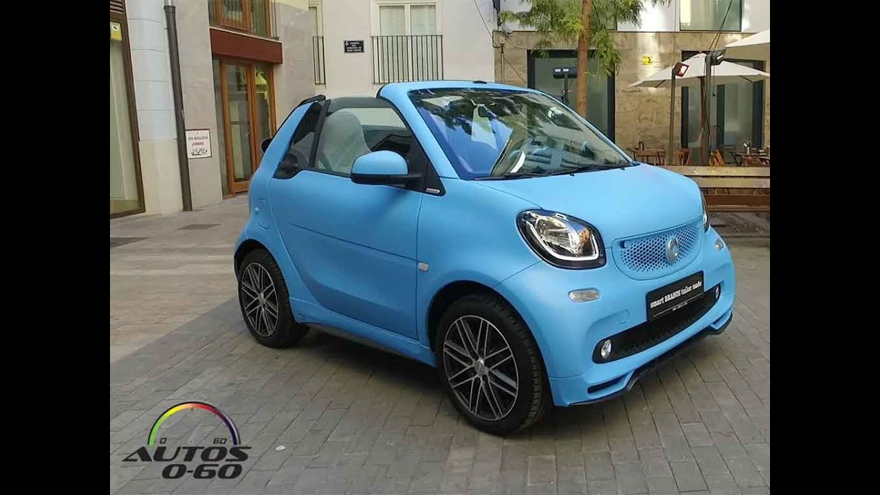 2017 smart fortwo cabrio by brabus 1st look in valencia spain youtube. Black Bedroom Furniture Sets. Home Design Ideas